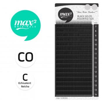 EXTENSII GENE MAX2ORIGINALE LASHES BLACK GOLDS CO