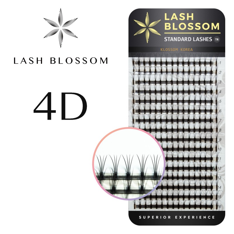 EXTENSII GENE LASH BLOSSOM SILK LASHES 4D F